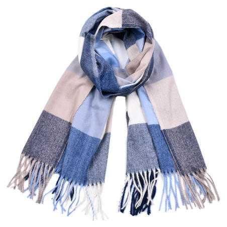 Esarfa casmir unisex, Winter Blue, fular lung