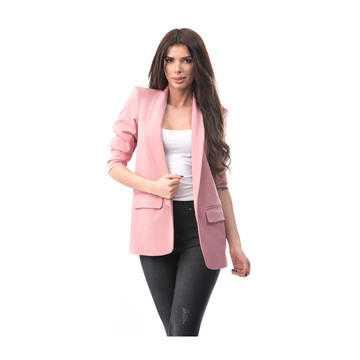 Sacou lung, tip blazer, roz
