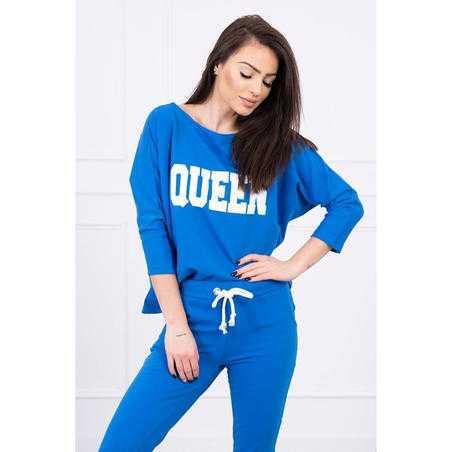Trening damă Queen, albastru, bumbac