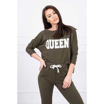 Trening damă Queen, kaki, bumbac