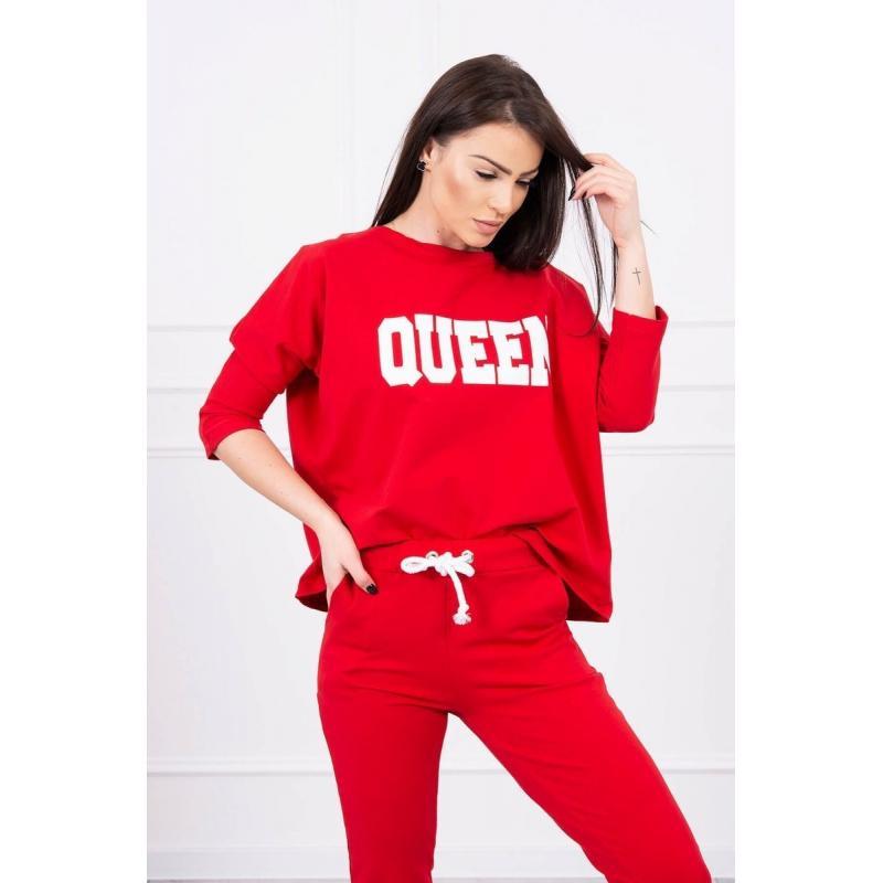 Trening damă Queen, roșu, bumbac