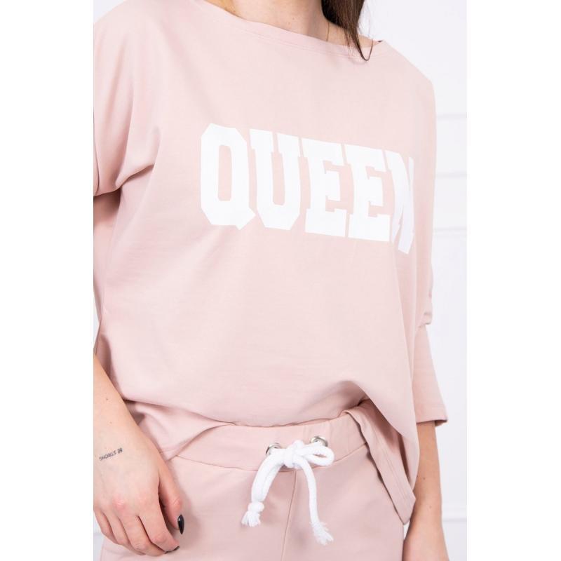 Trening damă Queen, roz pal, bumbac