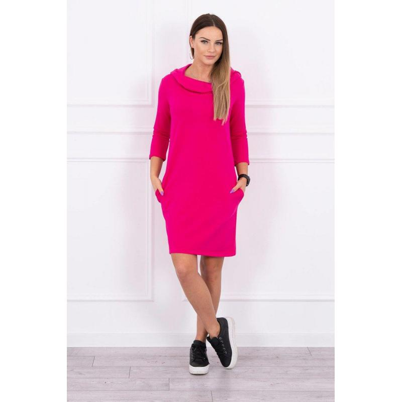 Rochie hanorac cu glugă, roz, bumbac