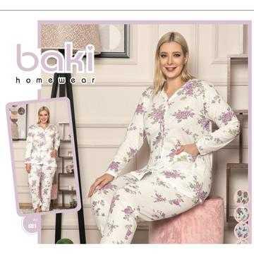 Pijama dama marimi mari, bumbac