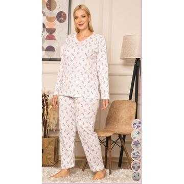 Pijama dama, bumbac, marimi mari
