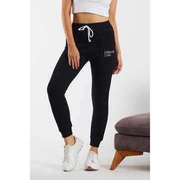 Pantaloni sport, trening, din bumbac, negri