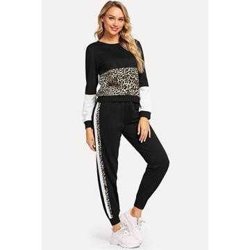 Trening dama Just Cotton, marimi mari, negru,animal print