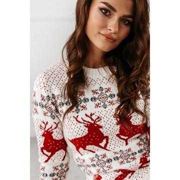 Pulover tricotat Craciun cu motive de sarbatori