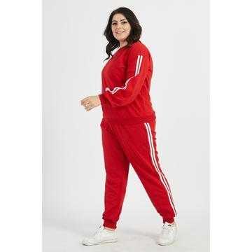 Trening damă Sport & Fit, mărimi mari, roșu, bumbac