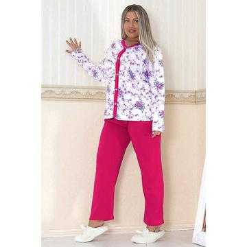 Pijama dama marimi mari, bumbac, fucsia