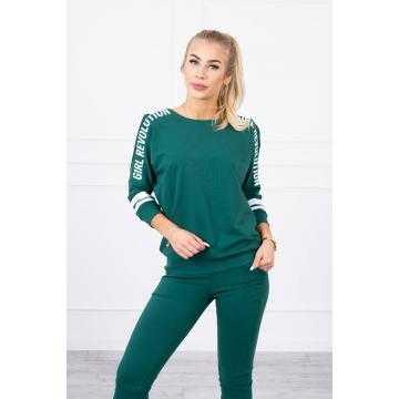Trening Revolution de damă, bumbac,verde smarald