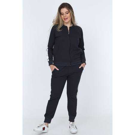 Trening negru Plus Size -Terry Chris
